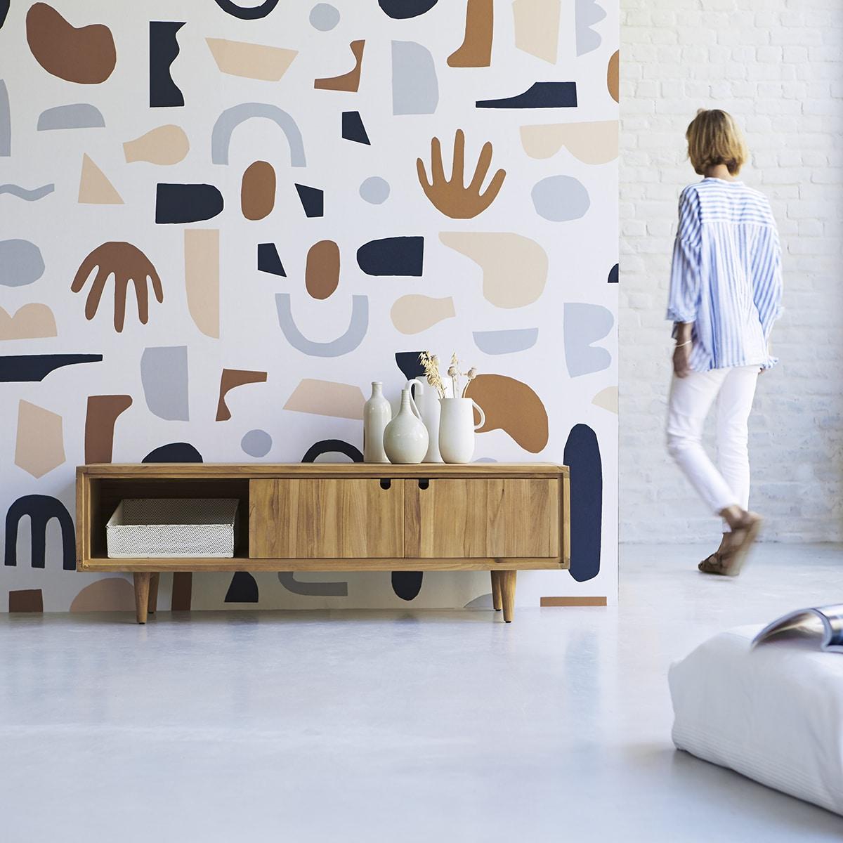 «Mural Wallpaper» : Le papier peint, un retour en touche