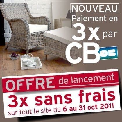 tikamoon fabricant meuble massif lance le paiement en 3x sans frais par carte bancaire en. Black Bedroom Furniture Sets. Home Design Ideas