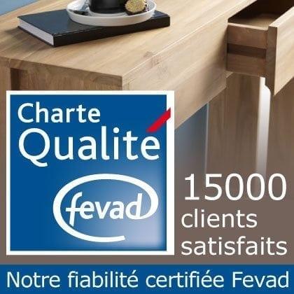Tikamoon meuble teck massif certifié «charte qualité fevad»