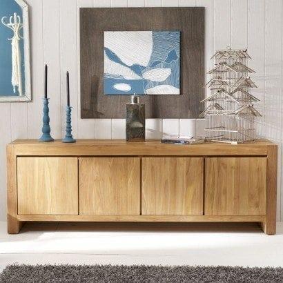 Entretenir ses meubles le teck - Buffet salon moderne ...