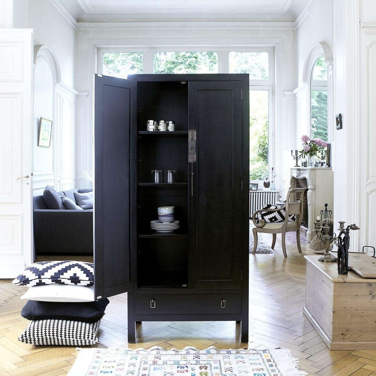 Armoire de bureau en acajou pas cher tikamoon blog - Bureau dans une armoire ...