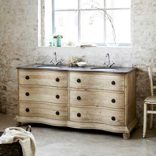 Un meuble de salle de bain en Pin