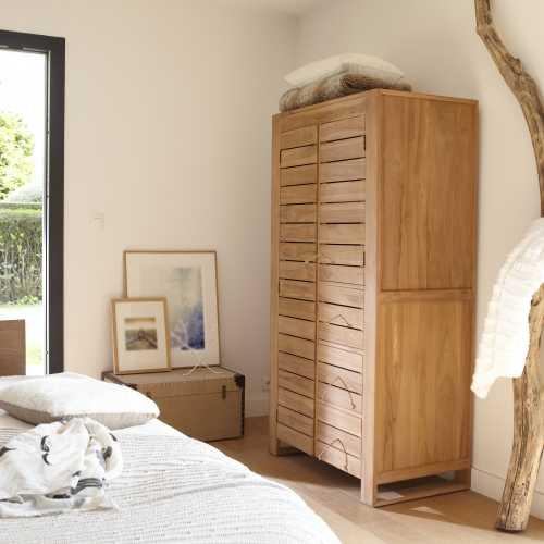 Armoire en Bois Massif pour Chambre  Tikamoon BLOG -> Catalogue Armoire Fait En Bois