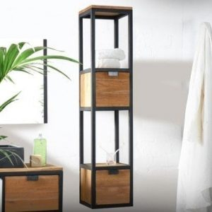 colonne salle de bain metal style industriel tikamoon blog. Black Bedroom Furniture Sets. Home Design Ideas