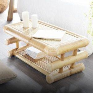 Table basse en bambou 100x50 Balyss