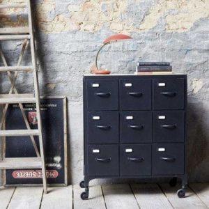 commode metallique industrielle design tikamoon blog. Black Bedroom Furniture Sets. Home Design Ideas