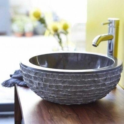 Un peu d'exotisme avec le vasque en marbre Bahya