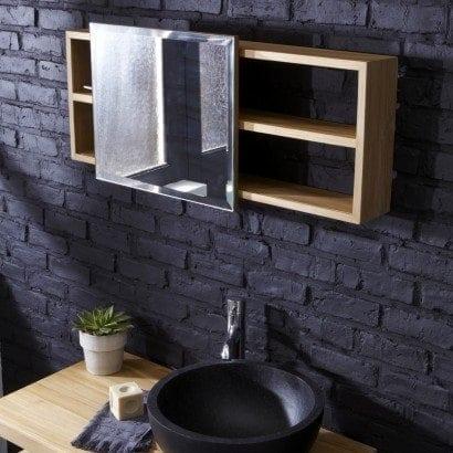 Une étagère miroir pour une touche de modernité dans ma salle de bain
