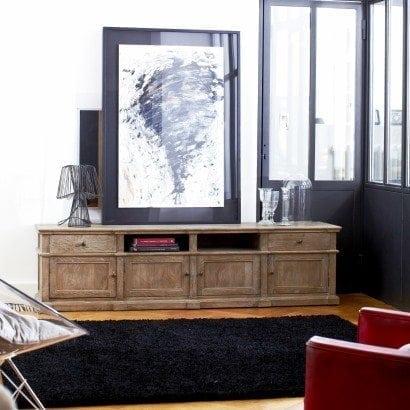 Un meuble TV en chêne massif et moderne, c'est possible avec Tikamoon