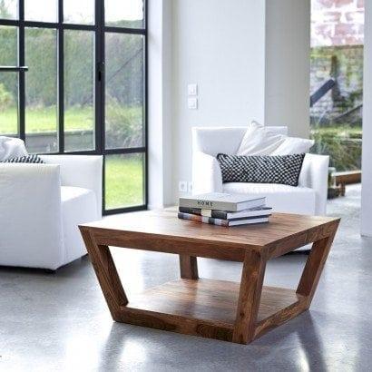 La table basse carrée en palissandre pour un style moderne